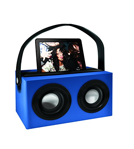 Polaroid Psk3002Bl 3.5Mm Rechargeable Portable Speaker Dock With Deep Bass, Blue