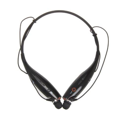 Iwoo Oem Wireless Bluetooth Universal Stereo Headset Headphone Neckband Earbud Earphone (Black)
