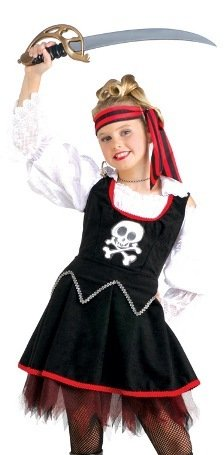 Kids Pirate Princess Girl Buccaneer Halloween Costume M Girls Medium (5-7 years)