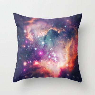 Society6 - The Universe Under The Microscope (Magellanic Clou… Throw Pillow By Badbugs_Art