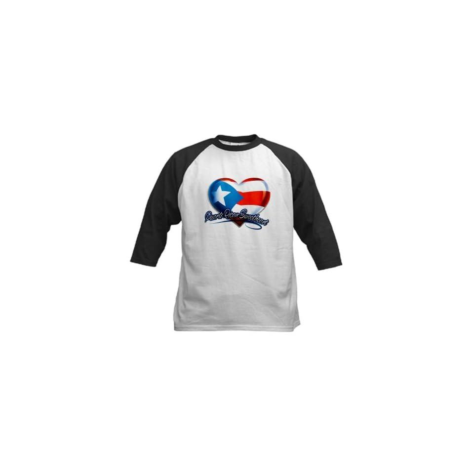 Artsmith, Inc. Kids Baseball Jersey Puerto Rican Sweetheart Puerto Rico Flag Clothing
