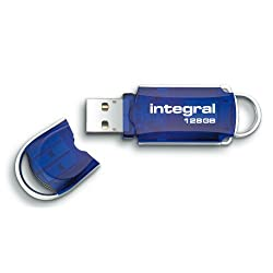 Integral Courier INFD128GBCO 128GB USB 2.0 Wireless Flash Drive - Blue