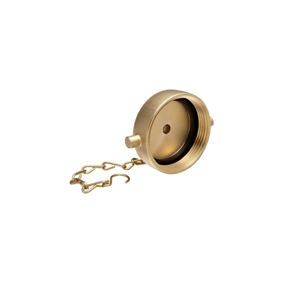 Moon 662 2521 Brass Fire Hose Fitting, Cap, 2 1/2 NH Cap