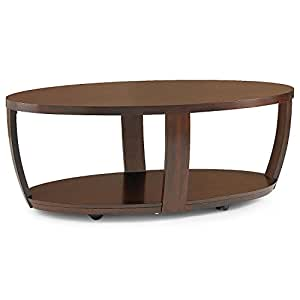 Hooper Oval Coffee Table Walnut Home Furniture Decor Living Room Tables
