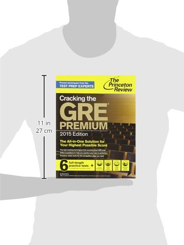 цена на Cracking the GRE Premium Edition with 6 Practice Tests, 2015 (Graduate School Test Preparation)
