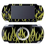 Sony PSP Modding Tattoo Designer Skin  Yellow Flames