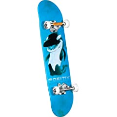 Buy POSITIV Andy Macdonald Walking Orca Complete Skateboard (Blue, 7.75-Inch) by POSITIV