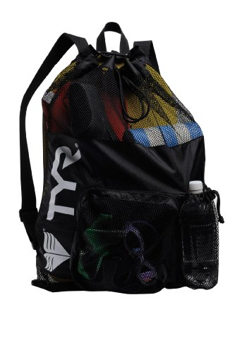 "Tyr Big Mesh Mummy Gear Bag, Black, 20.25"" X 23.5"" (Large)"