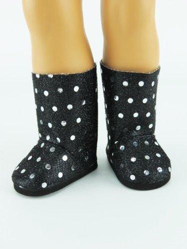 Black Sequin Boots   Fits 18