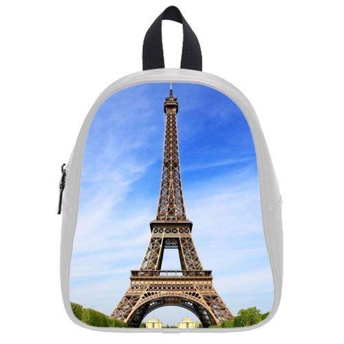 Fine Workmanship Paris Eiffel Tower Theme Lovely Child,Pu Leather,School Bags For Kid
