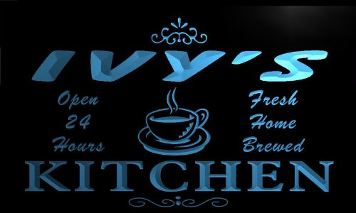 Pc682-B Ivy'S Family Name Kitchen Decor Neon Sign
