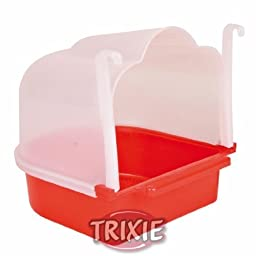Trixie Small Bird Bath 15×17×18 Cm, Ideal For: Canary, Finch Or Budgie