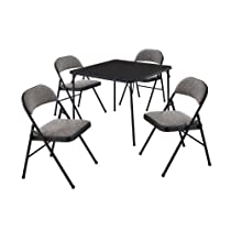 5 Piece,Courtyard Black,Card Table Set