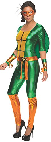 Secret Wishes Women's Teenage Mutant Ninja Turtles Michelangelo Costume Jumpsuit