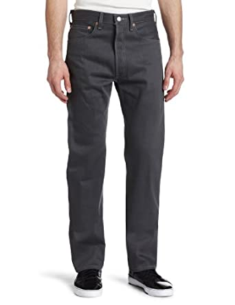 Levi's Men's 501 Colored Rigid Shrink-to-Fit Jean (Clearance), Light Gray Rigid, 29x30