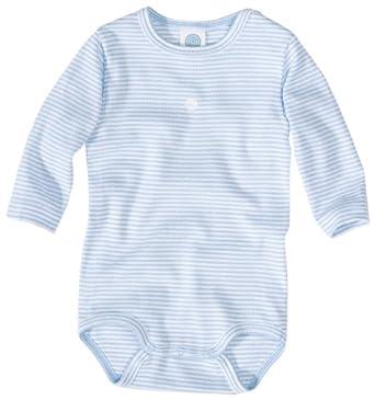 Sanetta Body  Col ras du cou Bébé garçon - Bleu - Blau (508 ) - FR : 12 mois (Taille fabricant : 80)