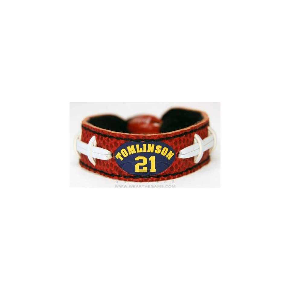 Leather GameWear NFL Football Classic Wristband  Ladainian Tomlinson  Chargers