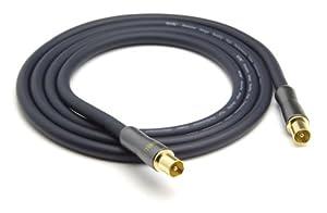 G&BL Câble antenne Doré Noyaux de ferrite 1,5m (Import Allemagne)