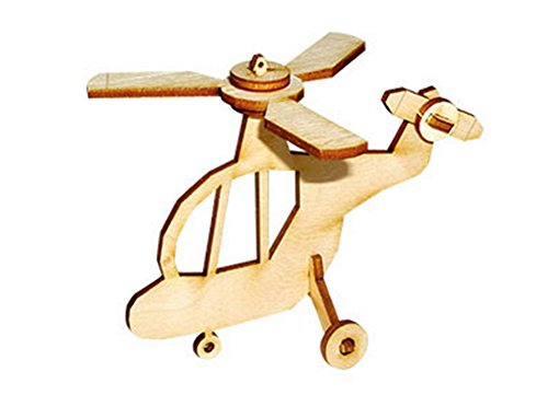 Desktop Wooden Model Kit Kids Helicopter ll / YG804 - 1