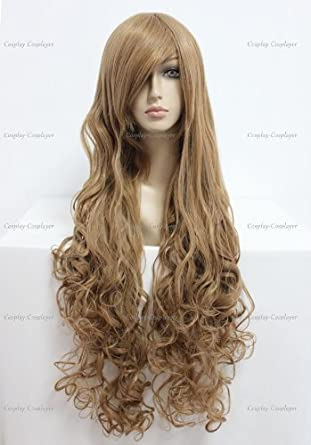 CosplayerWorld Cosplay Wigs Code Geass: Lelouch of the Rebellion Nunnally V Britannia Wig For Convention Party Show Brown90cm 360g WIG-207A01