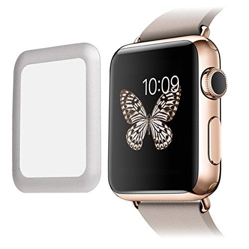 Protecteur d'Ecran en Verre Trempé de 0,2 mm pour Montre Apple Watch 42mm,Argent
