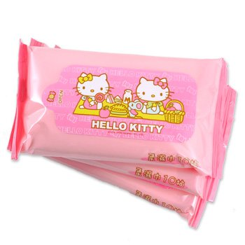 Hello Kitty Cleaning Wipes Travel Pack: Picnic