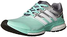 adidas Performance Women\'s Response Boost Techfit Running Shoe, Frost Mint/White/Black, 8 M US