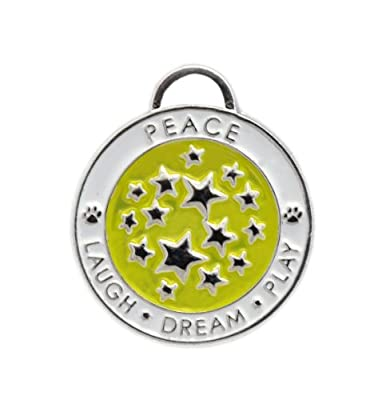 Luxepets Pet Collar Charm, Star, Lime