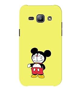 EPICCASE Dorae mickey Mobile Back Case Cover For Samsung J1 Ace (Designer Case)