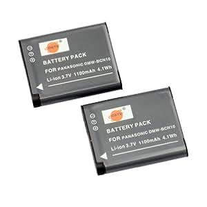 DSTE® 2x DMW-BCN10 de remplacement Li-ion Batterie pour Panasonic Lumix DMC-LF1