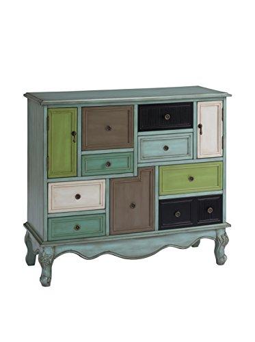 Treasure Trove Accents Nine Drawer Two Door Cabinet, 40