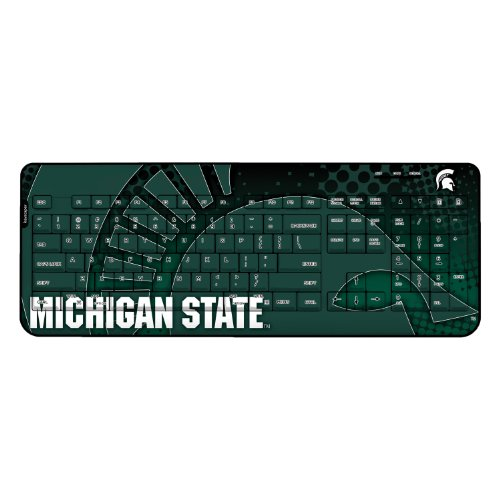Michigan State Spartans Wireless Usb Keyboard Ncaa