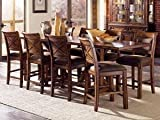Wilfred 9-Piece Tuscan Style Highboy Casual Dining Set (As Pictured)