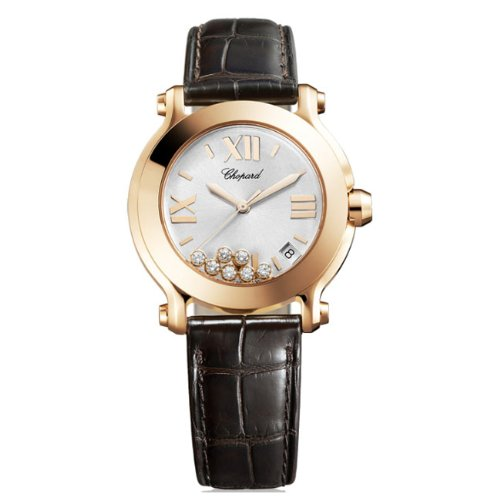 Chopard Happy Sport Edition 2 Ladies Rose Gold Diamond Watch 277471-5013