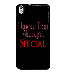 PrintDhaba Quote D-4415 Back Case Cover for HTC DESIRE 816 (Multi-Coloured)