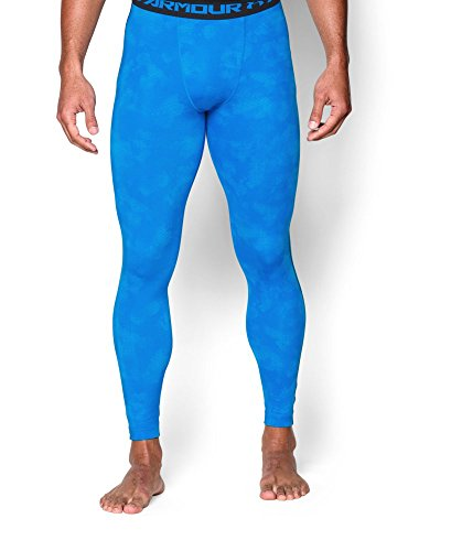 Under Armour Men's HG Printed Leggings, Medium, Blue Jet/Black