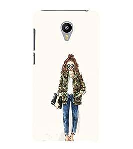 EPICCASE Cool girl Mobile Back Case Cover For Meizu m2 Note (Designer Case)