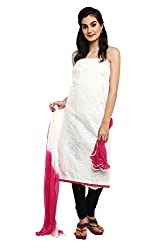 Parchayee White Cotton Dress Material