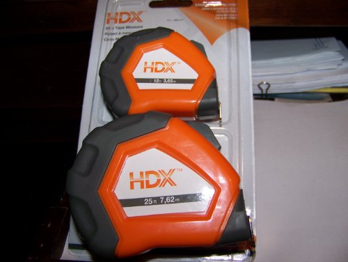 Hdx 25 Inch And 12 Inch Tape Measure Set