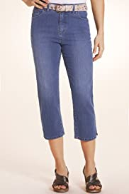 Per Una Roma Cropped Denim Jeans with Belt [T62-4523H-S]