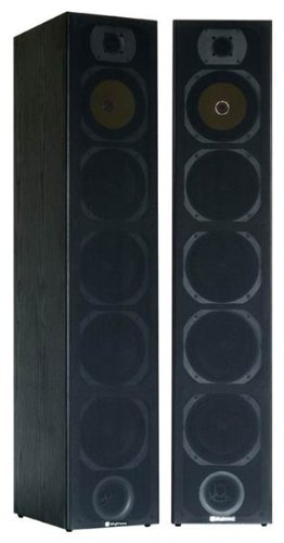 Skytronic stereo STAND-LAUTSPRECHER PAAR HiFi Tower-Boxen 2x 600W Schwarz