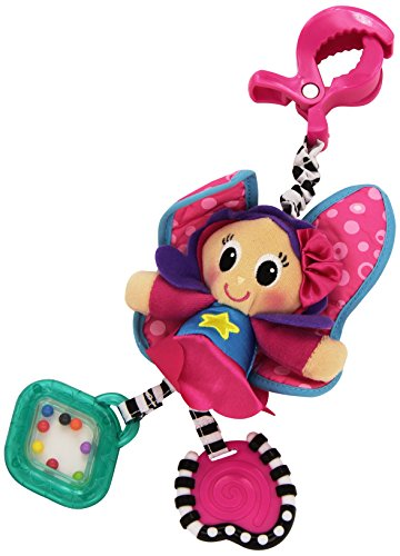 "Playgro Floss the Fairy ""Dingly Dangly"" Attachable Doll with Rattle"