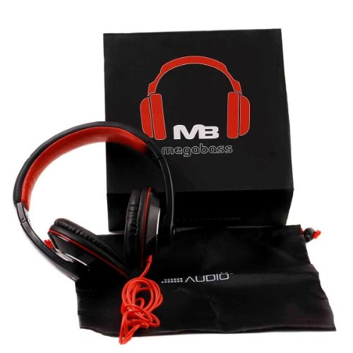 Megabass Over Ear Headphones - Comfortable, Portable And Sound Isolating!