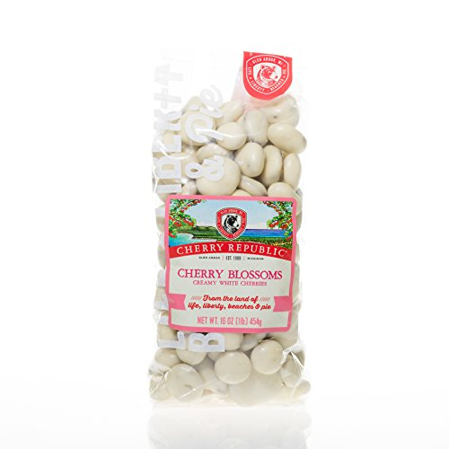 Cherry Republic Chocolate Cherries - Authentic & Fresh White Chocolate Covered Cherries Straight from Michigan - Cherry Blossoms - White Chocolate, 8 Ounces (Ice Cream Candy Hearts compare prices)