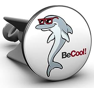 Plopp Waschbeckenstöpsel Cool Dolphin, Stöpsel, Excenter Stopfen, für Waschbecken, Waschtisch, Abfluss