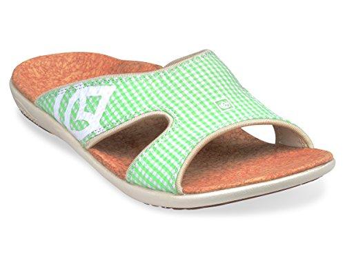 Spenco Women's Kholo Gingham Sandals Grass Green 9