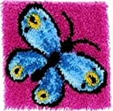 Caron WonderArt Latch Hook Rug Kit - Butterfly
