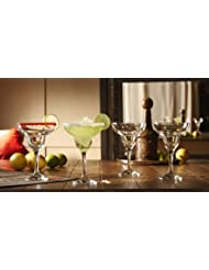 Ambassador Set of 4 Margarita Glasses by Style Setter