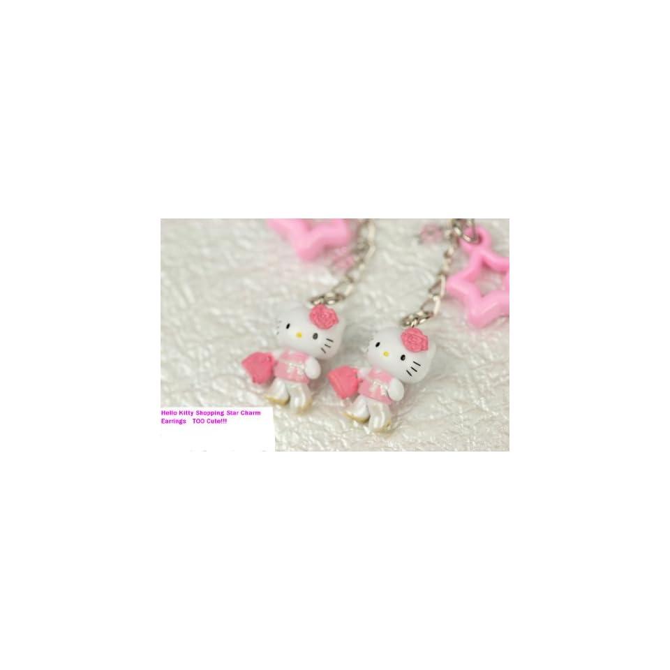 Hello Kitty Pink Star Charm Earrings