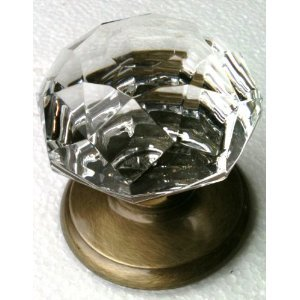 Gainsborough DUMMY Door Knob (SONATA CRYSTAL & ANTIQUE BRONZE ...